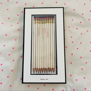 Kate Spade Pencil Set NWT